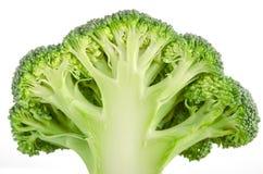 Geïsoleerde broccoliplak Stock Afbeelding