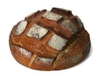 Geïsoleerde brood op wit met weg stock afbeelding