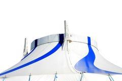 Geïsoleerde circus grote hoogste tent Stock Afbeeldingen
