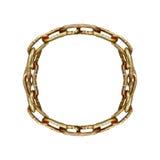 Geïsoleerde Cirkelketen over Witte Achtergrond Royalty-vrije Stock Afbeelding