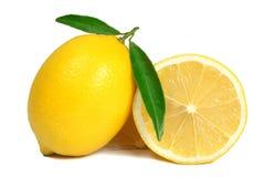 Geïsoleerde citroen royalty-vrije stock fotografie