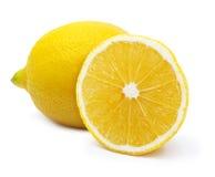 Geïsoleerde citroen. Stock Fotografie