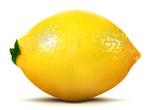 Geïsoleerde citroenfruit Stock Foto