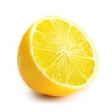 Geïsoleerde citroenplak Royalty-vrije Stock Foto's