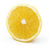 Geïsoleerde citroenplak. Royalty-vrije Stock Afbeelding
