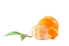 Geïsoleerde clementines Stock Foto's