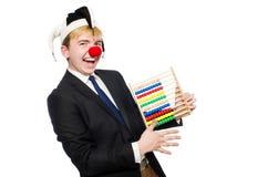 Geïsoleerde clown met telraam Royalty-vrije Stock Afbeelding