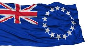 Geïsoleerde Cook Islands Flag Royalty-vrije Stock Afbeelding