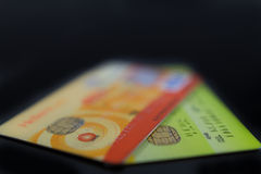 Geïsoleerde creditcards Royalty-vrije Stock Fotografie