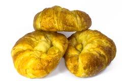 Geïsoleerde croissants Royalty-vrije Stock Afbeelding
