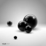 Geïsoleerde 3D zwarte gebieden vector illustratie