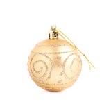 Geïsoleerde de bal van de Kerstmisdecoratie Stock Foto's