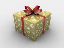 Geïsoleerde= de giftdoos van Kerstmis Royalty-vrije Stock Fotografie
