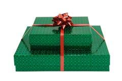 Geïsoleerde de giften van Kerstmis Stock Foto's