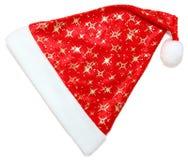 Geïsoleerde de hoed van de kerstman royalty-vrije stock foto's