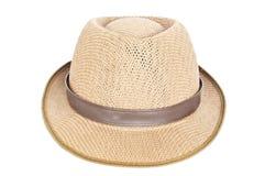 Geïsoleerde de hoed van Fedora. stock fotografie