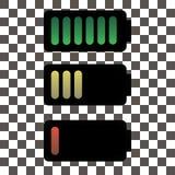 Geïsoleerde de illustratie van de batterijlading, vectorillustratie Stock Afbeeldingen