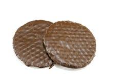 Geïsoleerde de koekjes van de chocolade Stock Afbeelding