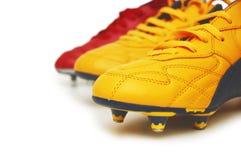 Geïsoleerde de laarzen van de voetbal Royalty-vrije Stock Afbeelding