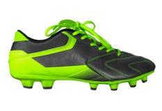 Geïsoleerde de laarzen van de voetbal Stock Foto's