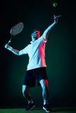 Geïsoleerde de mens van de tennisspeler Royalty-vrije Stock Foto's