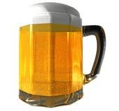 Geïsoleerde de mok van het bier Royalty-vrije Stock Afbeelding