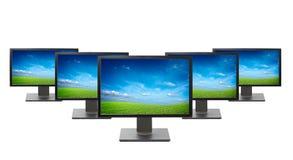 Geïsoleerde de monitors van de computer Stock Foto