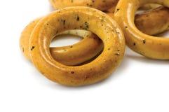 Geïsoleerde de Ongezuurde broodjes van de ring royalty-vrije stock afbeeldingen
