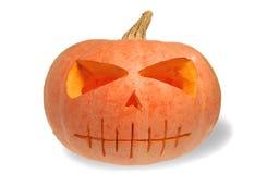 Geïsoleerde de pompoen van Halloween royalty-vrije stock foto's