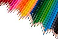 Geïsoleerde de potloden van de kleur Royalty-vrije Stock Afbeeldingen