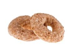 Geïsoleerde de ring van chocoladegraangewassen Stock Foto