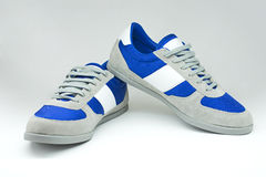 Geïsoleerde de schoenen van maniermensen (sport, toevallige stijl) Royalty-vrije Stock Foto's