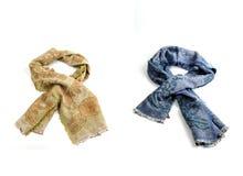 Geïsoleerde de sjaals van kleurenvrouwen Royalty-vrije Stock Foto's