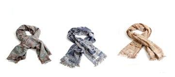 Geïsoleerde de sjaals van kleurenvrouwen Royalty-vrije Stock Afbeeldingen