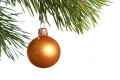 Geïsoleerde de spar van Kerstmis Stock Afbeelding