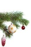 Geïsoleerde de spar van Kerstmis Royalty-vrije Stock Foto's