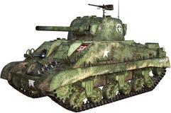 Geïsoleerde de Tank van WO.II ShermanTiger royalty-vrije illustratie