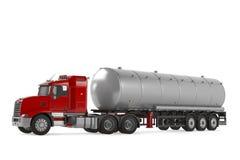 Geïsoleerde de tankervrachtwagen van het brandstofgas Stock Afbeelding