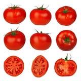 Geïsoleerde de tomaten van Muliple Stock Afbeeldingen