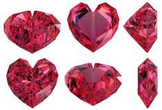 Geïsoleerde de vormgem van het hart Royalty-vrije Stock Foto's
