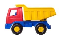 Geïsoleerde de vrachtwagen van het stuk speelgoed Stock Foto