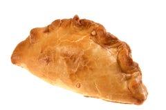 Geïsoleerde deegachtige vleespastei van Cornwall Royalty-vrije Stock Afbeelding
