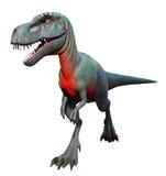 Geïsoleerde dinosaurus Stock Foto's
