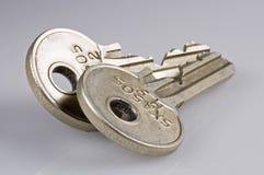Geïsoleerde diverse sleutels Royalty-vrije Stock Afbeeldingen