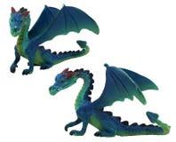 Geïsoleerde draakstuk speelgoed foto Stock Fotografie