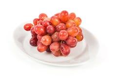 Geïsoleerde druiven Stock Fotografie