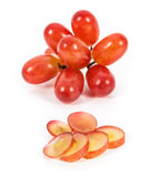 Geïsoleerde druiven Stock Foto