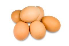 Geïsoleerde eieren Stock Foto