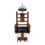 Elektrische stoel met skelet stock illustratie for Sedia elettrica edison