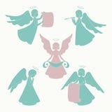 Geïsoleerde engelen Stock Foto